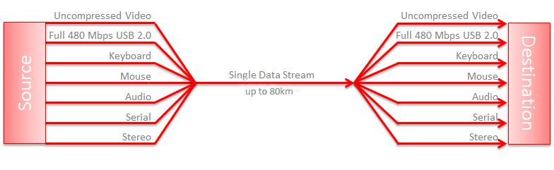 Single Data Stream up to 80km